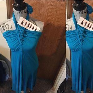 Plus size blue 6 in 1  dress